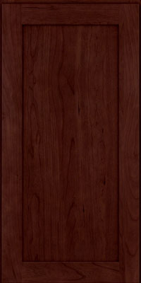 Square Recessed Panel - Veneer (LY) Cherry in Cabernet - Wall
