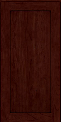 Square Recessed Panel - Veneer (LY) Cherry in Cabernet w/Onyx Glaze - Wall
