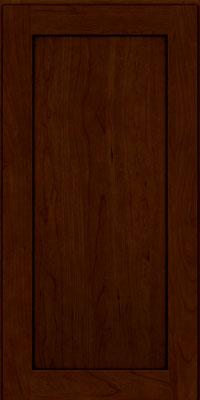 Square Recessed Panel - Veneer (LY) Cherry in Chocolate w/Ebony Glaze - Wall