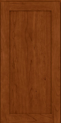 Square Recessed Panel - Veneer (LY) Cherry in Cinnamon - Wall