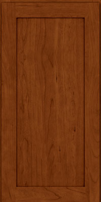 Square Recessed Panel - Veneer (LY) Cherry in Cinnamon w/Onyx Glaze - Wall