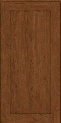 Square Recessed Panel - Veneer (LY) Cherry in Rye w/Sable Glaze - Wall