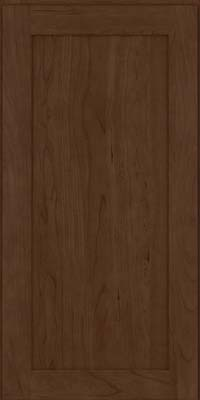 Square Recessed Panel - Veneer (LY) Cherry in Saddle Suede - Wall