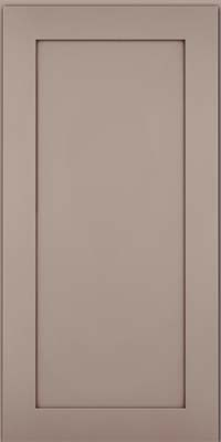 Square Recessed Panel - Veneer (MP) Maple in Pebble Grey w/ Cocoa Glaze - Wall