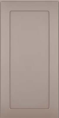 Square Recessed Panel - Veneer (MP) Maple in Pebble Grey w/ Coconut Glaze - Wall