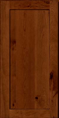 Square Recessed Panel - Veneer (AC7C) Rustic Cherry in Antique Chocolate w/Mocha Glaze - Wall