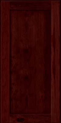 Square Recessed Panel - Veneer (AC7C) Rustic Cherry in Cabernet - Wall