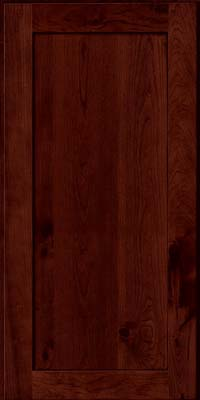 Square Recessed Panel - Veneer (AC7C) Rustic Cherry in Cabernet w/Onyx Glaze - Wall