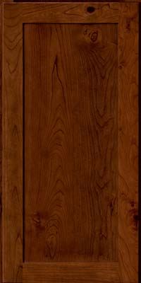 Square Recessed Panel - Veneer (AC7C) Rustic Cherry in Chocolate - Wall