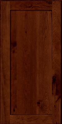 Square Recessed Panel - Veneer (AC7C) Rustic Cherry in Chocolate w/Ebony Glaze - Wall