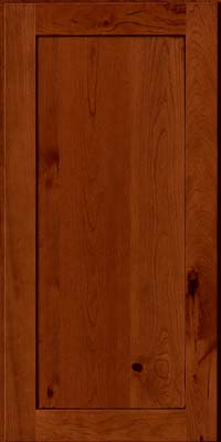 Square Recessed Panel - Veneer (AC7C) Rustic Cherry in Cinnamon w/Onyx Glaze - Wall