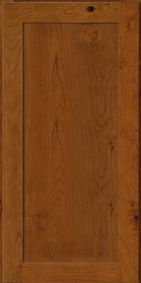 Square Recessed Panel - Veneer (AC7C) Rustic Cherry in Golden Lager - Wall