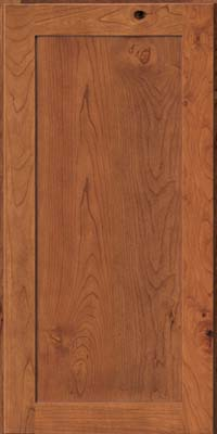 Square Recessed Panel - Veneer (AC7C) Rustic Cherry in Honey Spice - Wall
