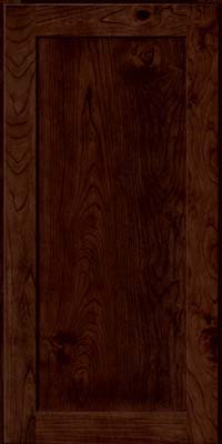 Square Recessed Panel - Veneer (AC7C) Rustic Cherry in Kaffe - Wall