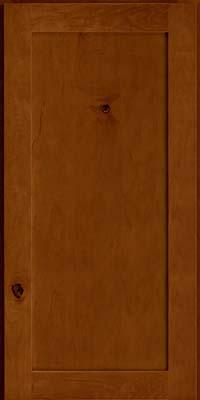 Square Recessed Panel - Veneer (AC7M) Rustic Maple in Chestnut - Wall