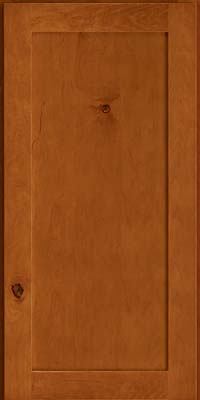 Square Recessed Panel - Veneer (AC7M) Rustic Maple in Cinnamon - Wall