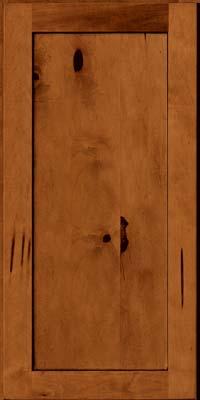 Square Recessed Panel - Veneer (AC7M) Rustic Maple in Cinnamon w/Onyx Glaze - Wall