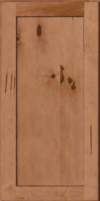 Square Recessed Panel - Veneer (AC7M) Rustic Maple in Ginger w/Sable Glaze - Wall
