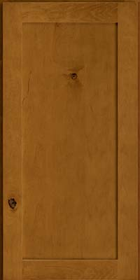 Square Recessed Panel - Veneer (AC7M) Rustic Maple in Golden Lager - Wall