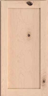 Square Recessed Panel - Veneer (AC7M) Rustic Maple in Parchment - Wall