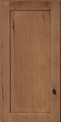 Square Recessed Panel - Veneer (AC7M) Rustic Maple in Rye - Wall