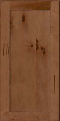 Square Recessed Panel - Veneer (AC7M) Rustic Maple in Rye w/Sable Glaze - Wall