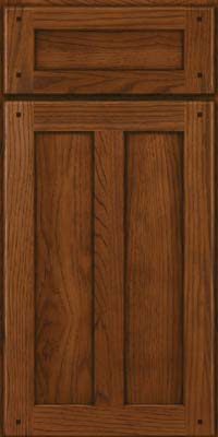 Square Recessed Panel - Veneer (MKH) Hickory in Cognac - Base