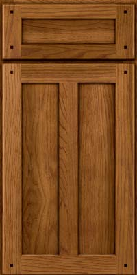 Square Recessed Panel - Veneer (MKH) Hickory in Golden Lager - Base