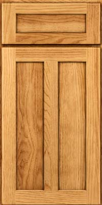 Square Recessed Panel - Veneer (MKH) Hickory in Honey Spice - Base