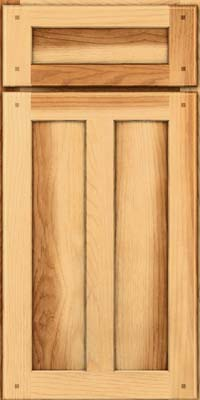 Square Recessed Panel - Veneer (MKH) Hickory in Natural - Base