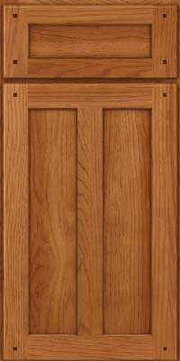 Square Recessed Panel - Veneer (MKH) Hickory in Praline - Base