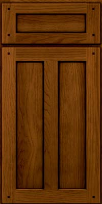 Square Recessed Panel - Veneer (MKH) Hickory in Praline w/Onyx Glaze - Base