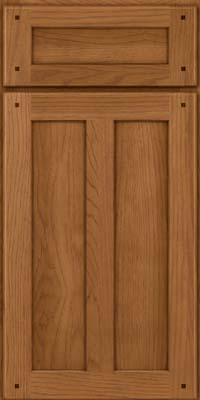 Square Recessed Panel - Veneer (MKH) Hickory in Rye - Base