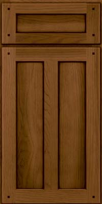 Square Recessed Panel - Veneer (MKH) Hickory in Rye w/Sable Glaze - Base