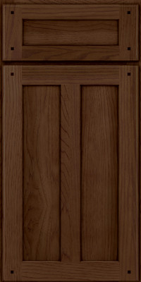 Square Recessed Panel - Veneer (MKH) Hickory in Saddle - Base