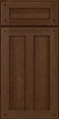 Square Recessed Panel - Veneer (MKH) Hickory in Saddle Suede - Base