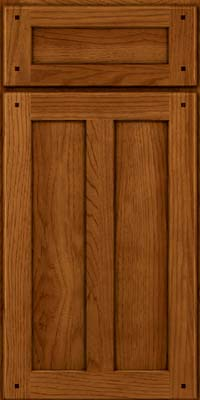 Square Recessed Panel - Veneer (MKH) Hickory in Sunset - Base