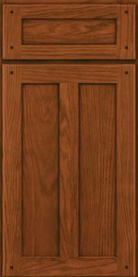 Square Recessed Panel - Veneer (MKO) Oak in Autumn Blush - Base