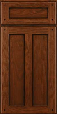 Square Recessed Panel - Veneer (MKO) Oak in Autumn Blush w/Onyx Glaze - Base