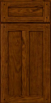Square Recessed Panel - Veneer (MKO) Oak in Cognac - Base