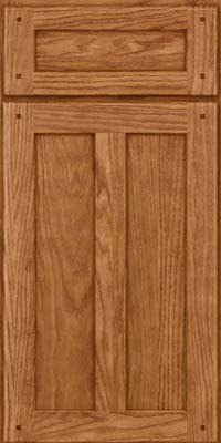 Square Recessed Panel - Veneer (MKO) Oak in Fawn - Base