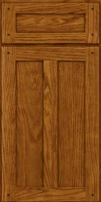 Square Recessed Panel - Veneer (MKO) Oak in Golden Lager - Base