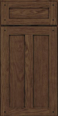 Square Recessed Panel - Veneer (TMKO1) Oak in Hazel - Base