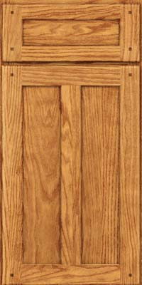 Square Recessed Panel - Veneer (MKO) Oak in Honey Spice - Base