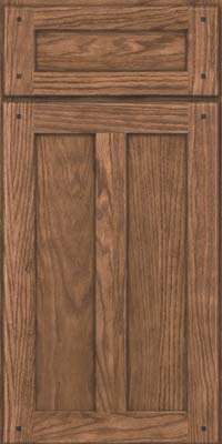 Square Recessed Panel - Veneer (TMKO) Oak in Husk - Base