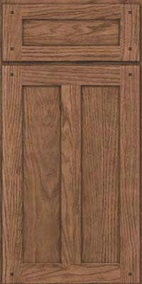 Square Recessed Panel - Veneer (TMKO) Oak in Husk Suede - Base