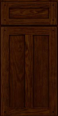 Square Recessed Panel - Veneer (MKO) Oak in Kaffe - Base