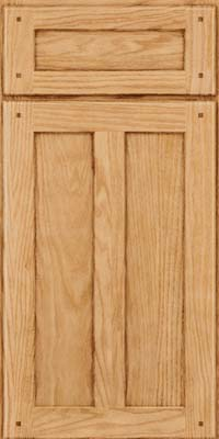 Square Recessed Panel - Veneer (MKO) Oak in Natural - Base