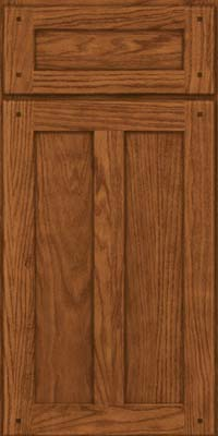 Square Recessed Panel - Veneer (MKO) Oak in Rye - Base