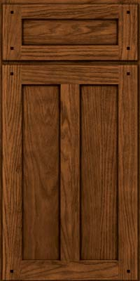 Square Recessed Panel - Veneer (MKO) Oak in Rye w/Sable Glaze - Base